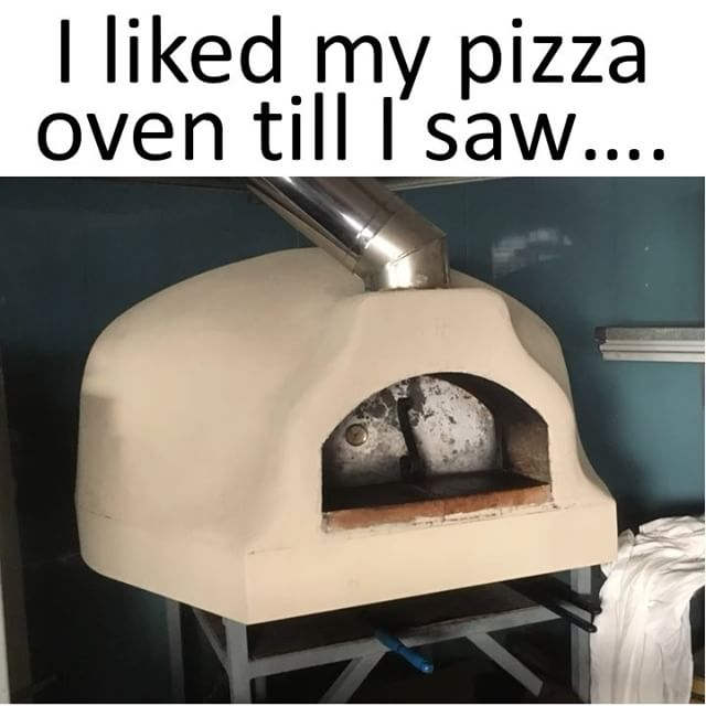 Just updated the oven with some paint in preparation for tiling #Theviewpizza  #pizza #pizzaparty #pizzacooking #ilovepizza #food #cooking #lovecooking #delicious #ilovefood #foodstagram #instafood #igers #meme #kitchen #oven #outdoorkitchen #forno #fornopizza #instalike #instagood #instadaily