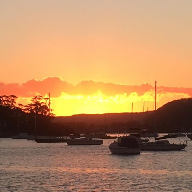 """""""Never a bad sunset in Hardys Bay"""". Local resident quote #theviewpizza"""