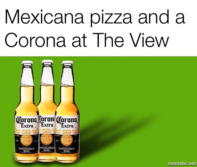 Mexicana spiced beef, jalapeño capsicum, corn chips and sour cream. Add a corona #beer for the perfect #Mexican #experience  #theviewpizzaspecial  #Theviewpizza #corona
