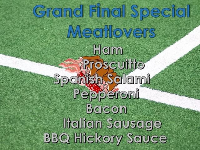 #meat meat and more meat. A #meatlovers paradise for #nrlfinals #afl $26 #Theviewpizza  #theviewpizzaspecial  #football