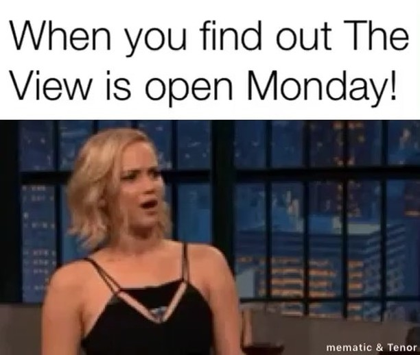 That's right. We are open tonight. See you there #theviewpizza #monday