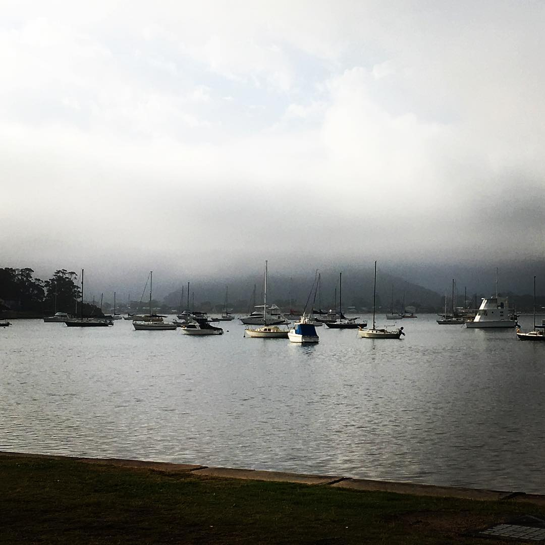Hardys bay right now #mist #calm #hardysbay #killcare #theviewpizza