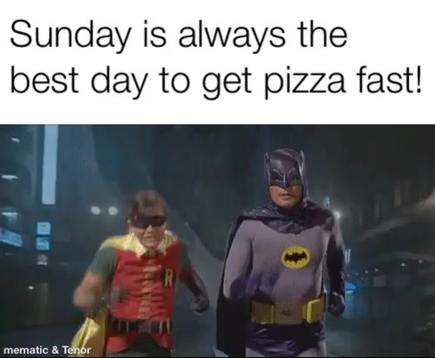 We have been rammed this week #theviewpizza  the wood fired oven has been cooking more than a pizza a minute every day. Sunday is always our slowest day so why not get a #delivery tonight #pizza . Same bat taste, same bat location. Just bat faster!!